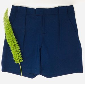 Alvin Valley Gorgeous Navy Pleated Hi-rise Short
